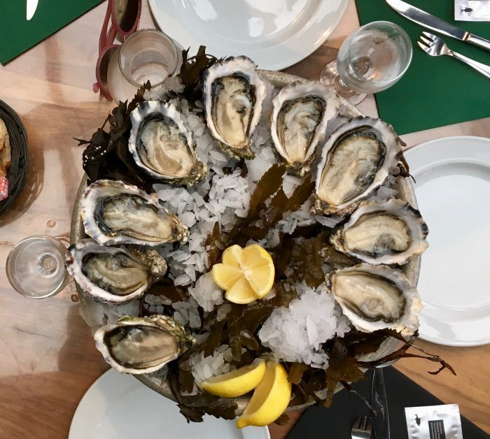 Shucking oysters in Arcachon